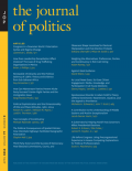 Journal of Politics cover