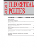 Journal of Theoretical Politics cover
