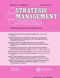 Cover of volume 43.13 of Strategic Management Journal
