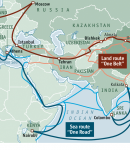 new silk road map a