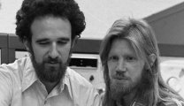 Martin Hellman (center) and Whitfield Diffie (right) the inventors of public-key cryptography are shown in this 1977 photo.