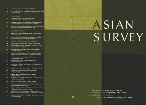 Cover of the journal Asian Survey.