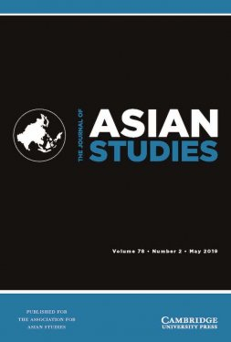 Cover of The Journal of Asian Studies