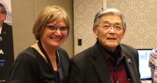 Deborah Rowland with Secretary Norman Mineta