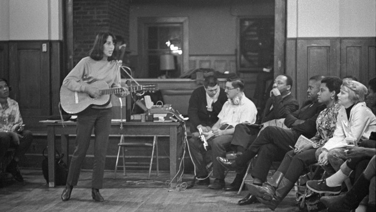 Joan Baez, SCLC Frogmore Retreat