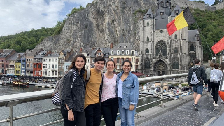 Sarah Saboorian travels with fellow interns to Dinant