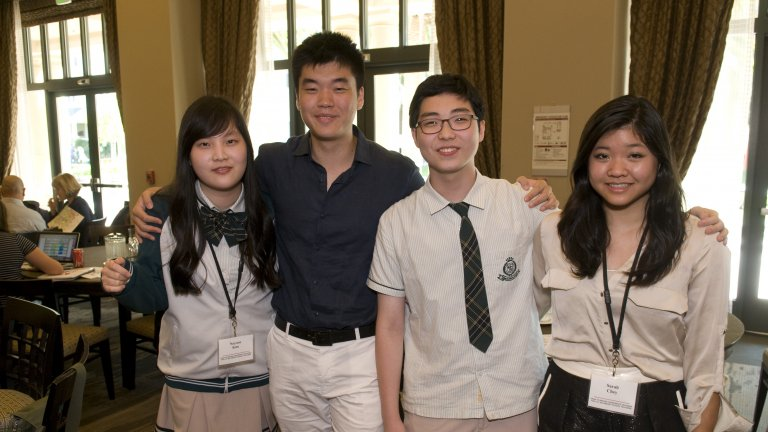 Four Young Persons at Hana Conference 2014