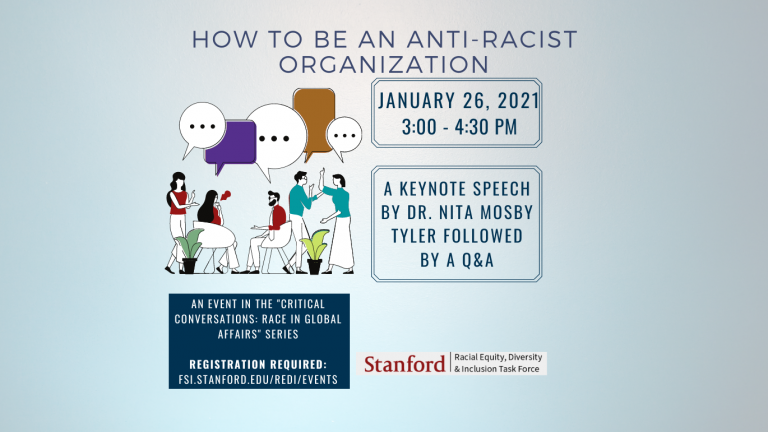 an image with the event details including a cartoon image of people standing in a crowd talking