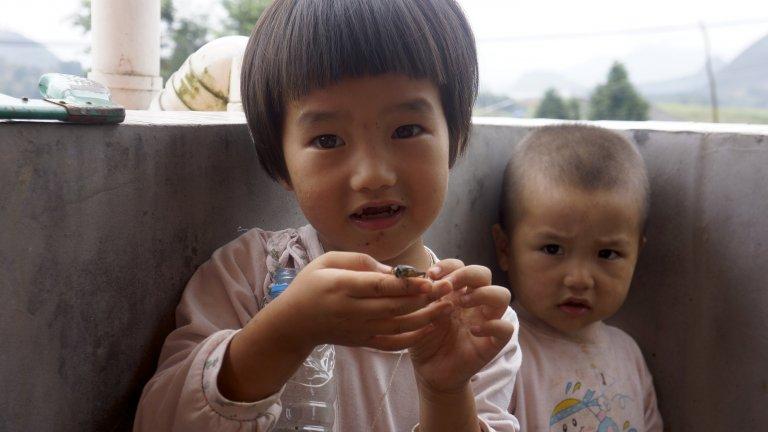 gaptooth kids rural china