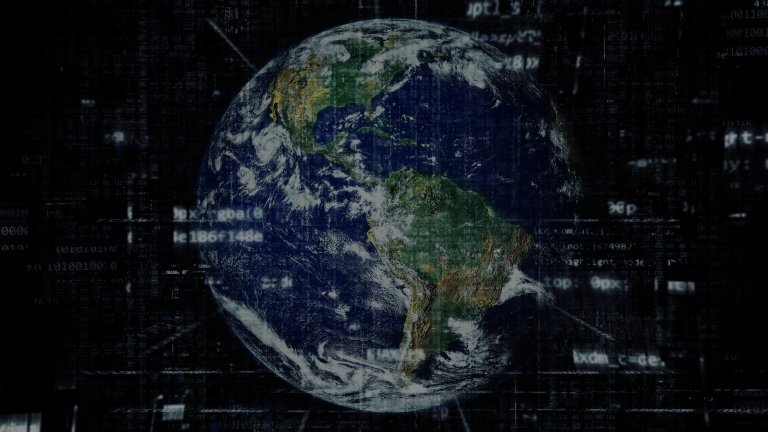 Global Digital Policy Incubator branding image of globe with traces of binary code in foreground.