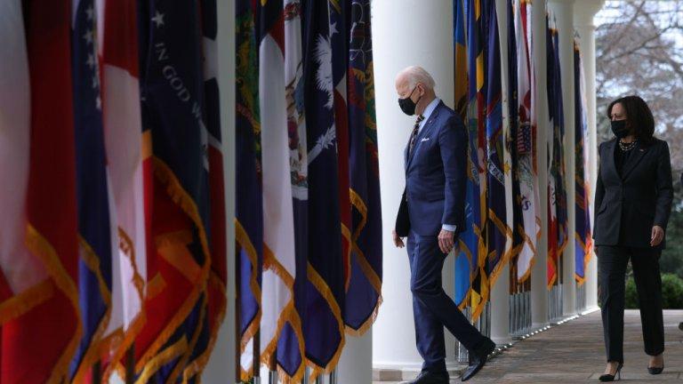Joe Biden in the Rose Garden