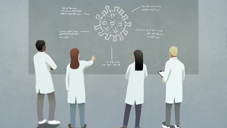 COVID-19 research illustration