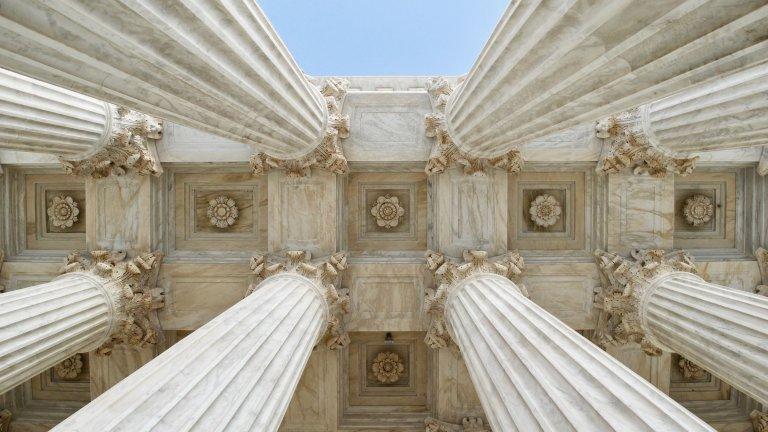 The columns at the U.S.Supreme Court