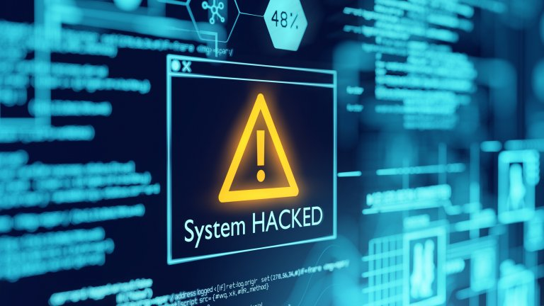 System Hacked computer screen