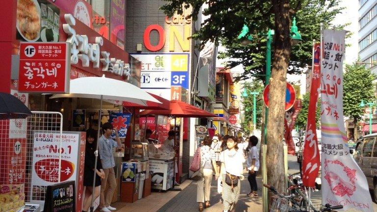 Tokyo's Shin Okubo neighborhood, known for its Korea Town