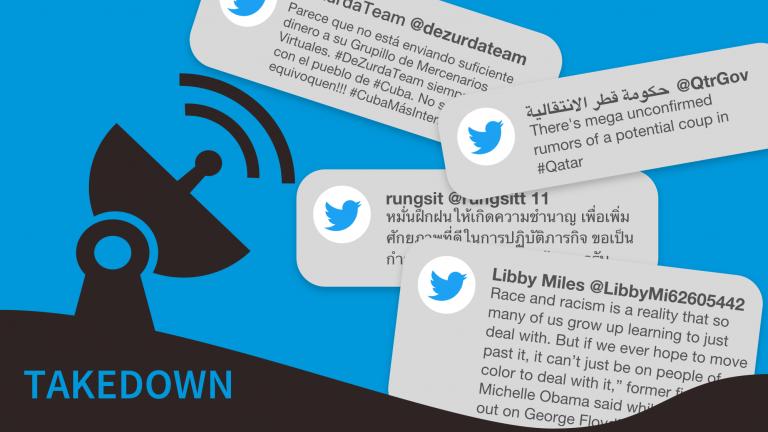 Twitter takedown