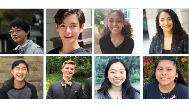 eight students headshot