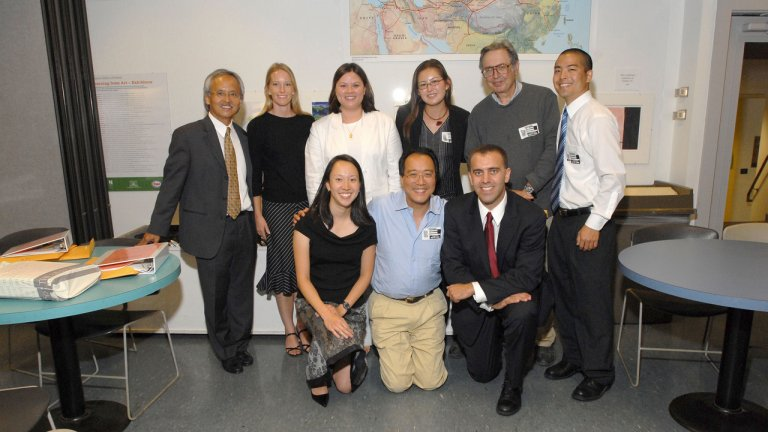 Yo-Yo Ma with Professor Dien and the SPICE staff, Art Institute of Chicago