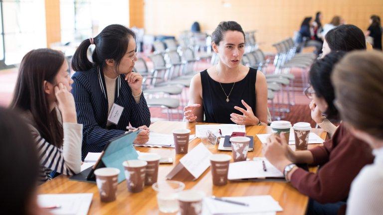 Maria Polyakova at Stanford seminar about mentorship.