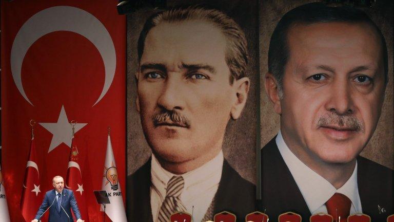Turkish President Recep Tayyip Erdogan delivers a speech in Ankara on Sept. 5, 2019