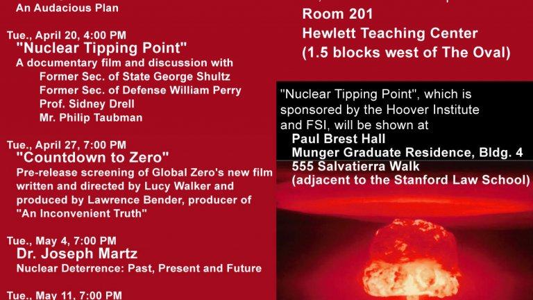 Defusing Nuclear Threat flyer
