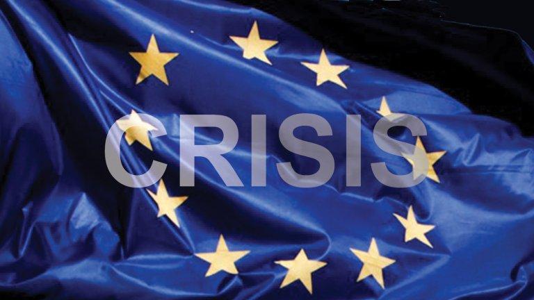EU FLAG + CRISIS 2