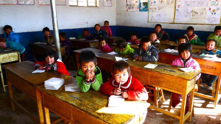 rural sunlit classroom