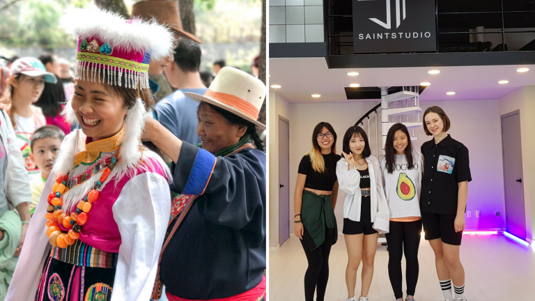 Interns experiencing culture in China and South Korea