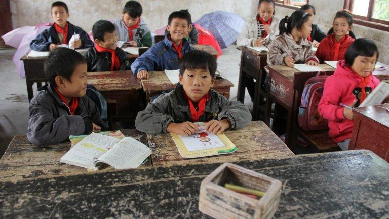 umbrellas rural kids school