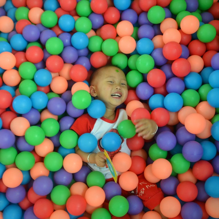 China Baby in Ball Pit