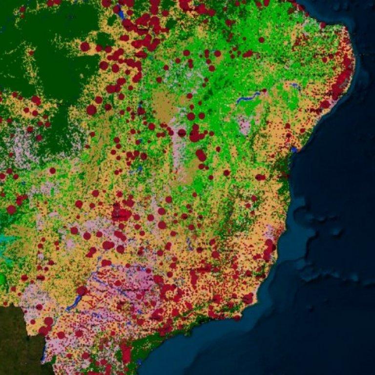 Brazil human trafficking map