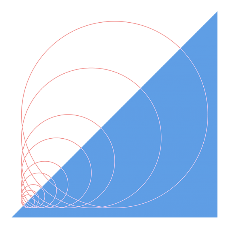 graphic of circles and diagonal lines