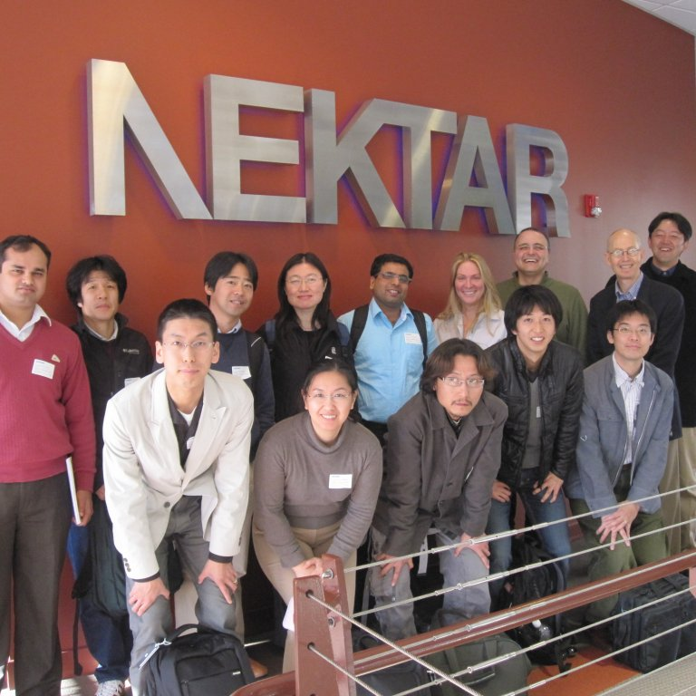 Global Affiliates fellows posing for the camera during a visit to Nektar.