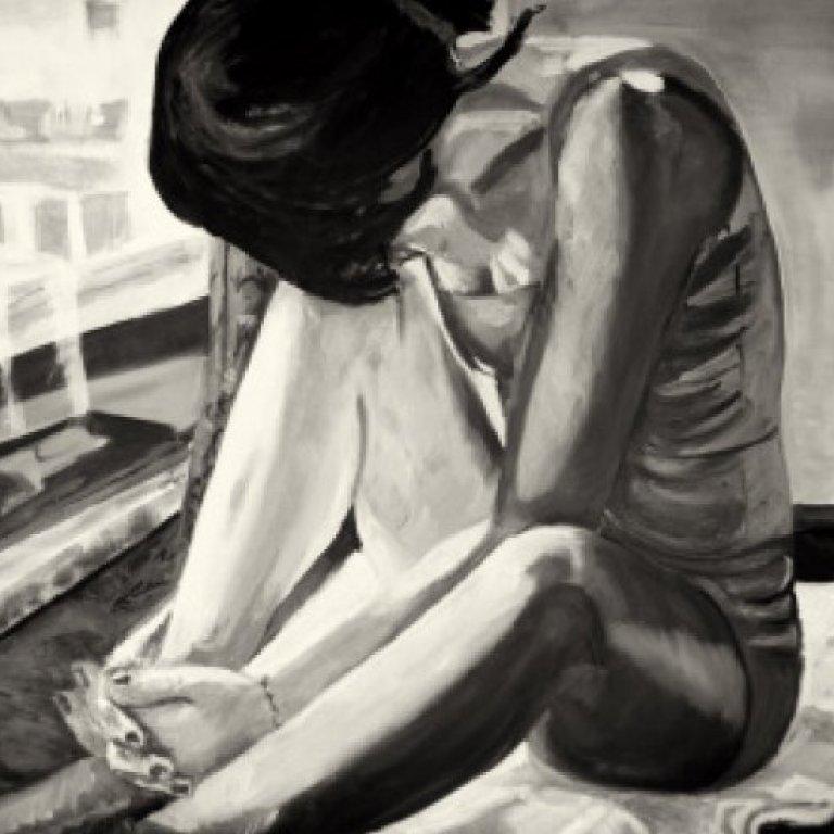 Illustration of a Sad Woman