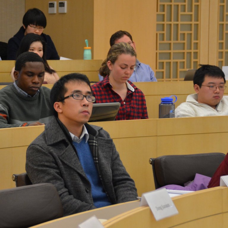 Students and scholars participating at an AHPP workshop at the Stanford Center at Peking University