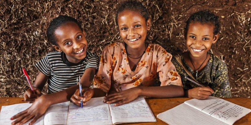 african girls study