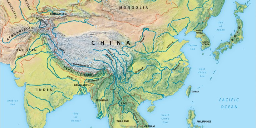 Overview map of Asia