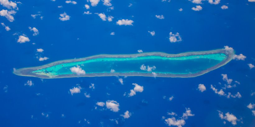 atoll near spratly islands
