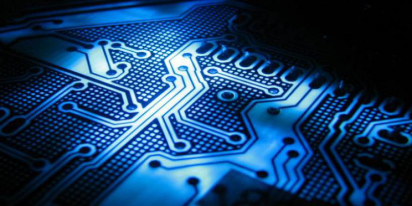 blue circuit board wide