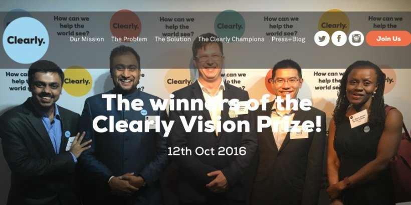 REAP's Smart Focus Vision social enterprise wins the 2016 Clearly Vision Prize.