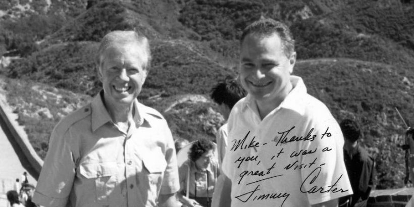 President Jimmy Carter and Michel Oksenberg in China