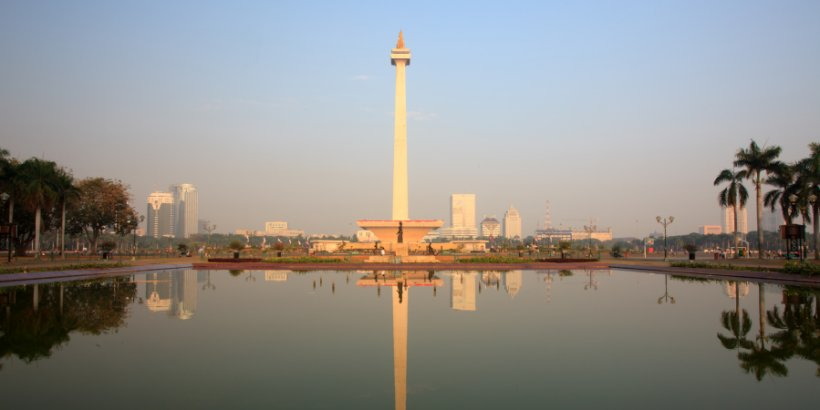 The National Monument in Jakarta City, Indonesia.