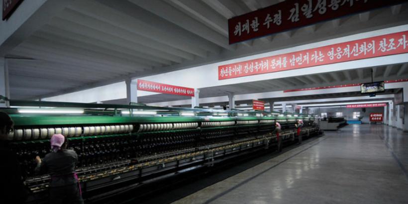 jong suk textile company in north korea