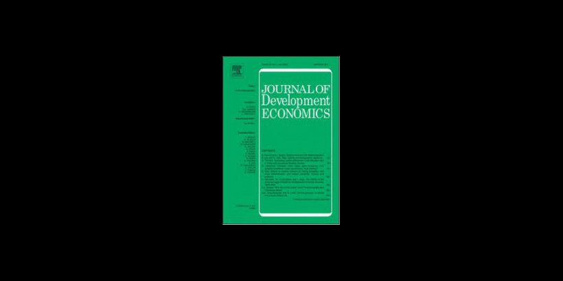 Image of the front cover of the Journal of Development Economics