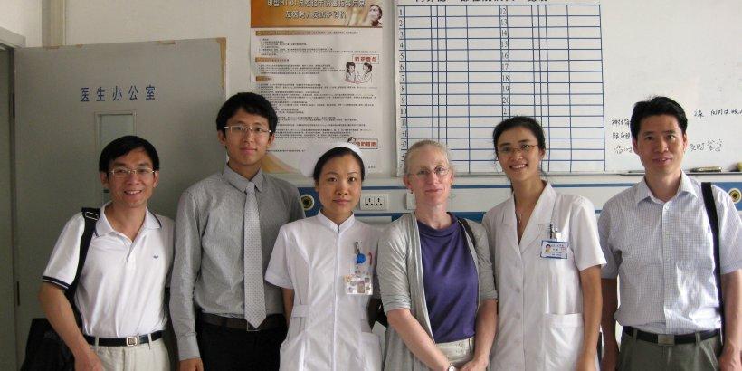 Karen Eggleston with physicians and nurses at Shandong Hospital, China