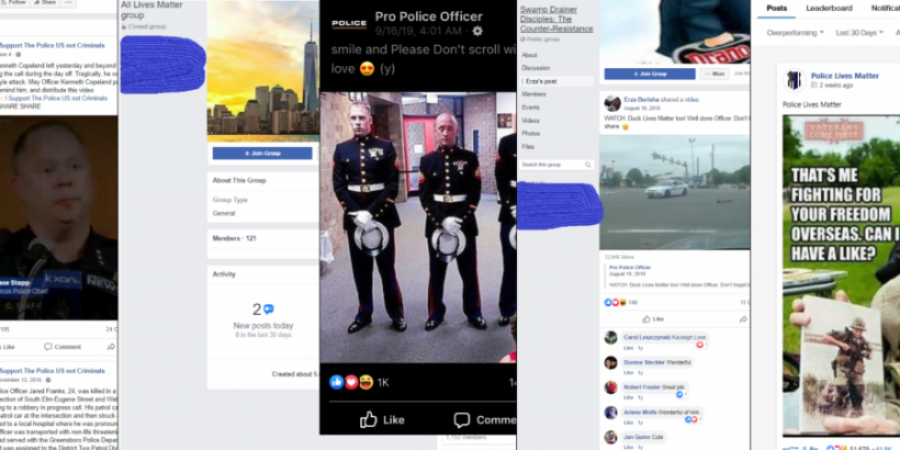 Screenshots  of removed content from Kosovo disinformation takedown.