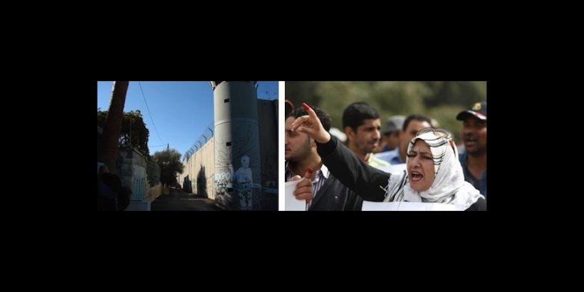 Israeli Wall   Iraqi Woman