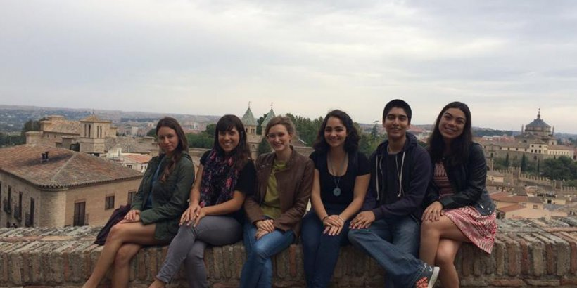 Sergio Rebeles and friends in Toledo, Spain
