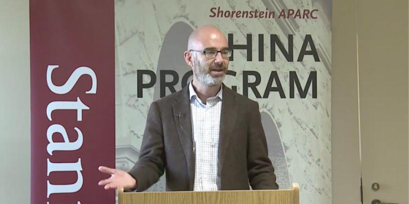 Adam Segal lectures at APARC