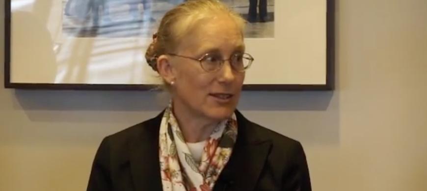 Karen Eggleston speaking on a panel celebrating Harvard Professor Richard Zeckhauser.